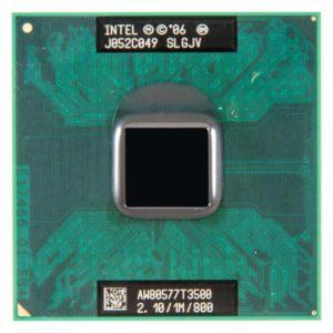 Процессор Intel Celeron T3500 @ 2.10GHz/1M/800 (SLGJV, AW80577T3500) Б/У