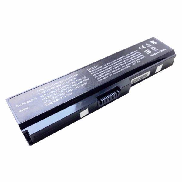 Аккумуляторная батарея для ноутбука Toshiba Satellite Pro A660, A665, C645, C650, C655, L310, L510, L515, L630, L635, L640, L645, L650, L655, L670, L675, M300, M305, M500, M505, M640, M645, T110, T115, T130, T135, U400, U405, U500, U505, C650D, C655D, C660, C660D, C670, C670D, L650D, L655D, L670D, L675D, L750, L750D, L755, L755D, C665, C640, C640D, C645D, C665D, L311, L312, L315, L317, L322, L323, L515D, L600, L600D, L630D, L640D, L660, L660D, L730, L735, L740, L770, L770D, M305D, M505D, P740, P750, P770D, U405D, A660D, Toshiba Equium U400, Portege M800, T130, T131, M805, M810, M820, M825, M830, Dynabook CX, SS, T350, T551, Qosmio T550, X770, X775 DC 10.8V 4400mAh/48Wh Black Черная (PA3817-1BRS, PA3817U)