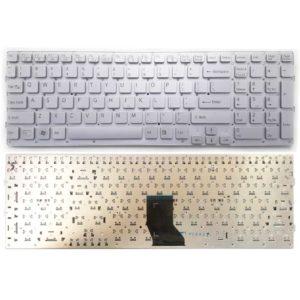 Клавиатура для ноутбука Sony Vaio VPC-CB, VPCCB, VPC-CB17 Silver Серебро, без рамки, буквы — АНГЛИЙСКИЕ (148955161, 9Z.N6CBF.101)