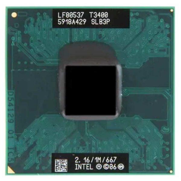 Процессор Intel Pentium T3400 @ 2.16GHz/1M/667 (SLB3P) Б/У