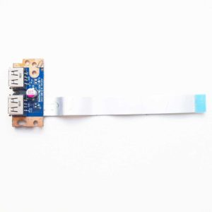 Плата 2xUSB со шлейфом 12-pin для ноутбука Toshiba L500, L505, L500D, L505D (KSWAE LS-4972P, NBX0000EL00)